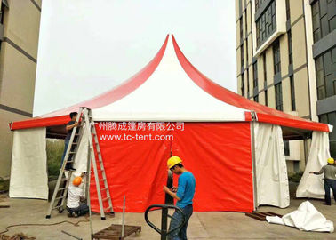 Circus Romantic Aluminium Alloy Octagonal Red PVC Cloth Tents For Parties With PVC Walls